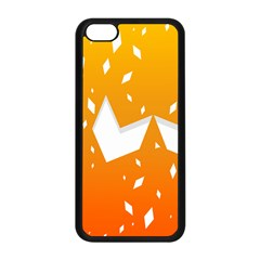 Cute Orange Copy Apple Iphone 5c Seamless Case (black) by AnjaniArt