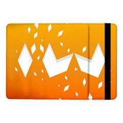 Cute Orange Copy Samsung Galaxy Tab Pro 10 1  Flip Case by AnjaniArt