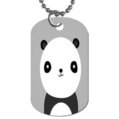 Cute Panda Animals Dog Tag (two Sides) by AnjaniArt