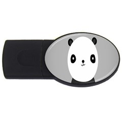 Cute Panda Animals Usb Flash Drive Oval (4 Gb)