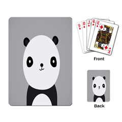 Cute Panda Animals Playing Card by AnjaniArt
