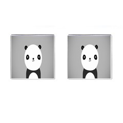 Cute Panda Animals Cufflinks (square) by AnjaniArt