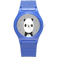 Cute Panda Animals Round Plastic Sport Watch (s)