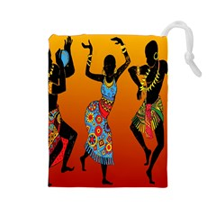 Dancing Drawstring Pouches (large)