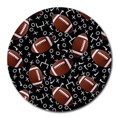 Football Player Round Mousepads by AnjaniArt
