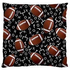 Football Player Large Cushion Case (one Side)