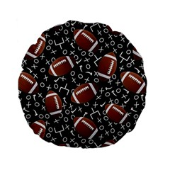 Football Player Standard 15  Premium Flano Round Cushions by AnjaniArt