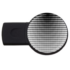 Dark Circles Halftone Black White Copy Usb Flash Drive Round (4 Gb)  by AnjaniArt
