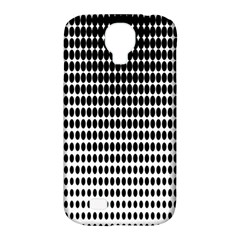 Dark Circles Halftone Black White Copy Samsung Galaxy S4 Classic Hardshell Case (pc+silicone) by AnjaniArt