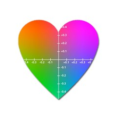 Formula Plane Rainbow Heart Magnet by AnjaniArt