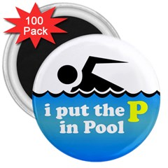 Funny Swiming Water 3  Magnets (100 Pack)