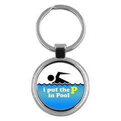 Funny Swiming Water Key Chains (round)