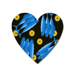 Mackerel Meal Heart Magnet by Valentinaart