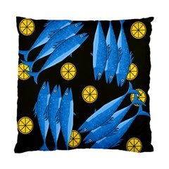 Mackerel Meal Standard Cushion Case (one Side) by Valentinaart