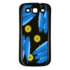 Mackerel Meal Samsung Galaxy S3 Back Case (black) by Valentinaart