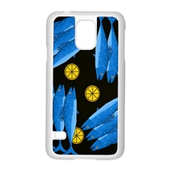 Mackerel Meal Samsung Galaxy S5 Case (white) by Valentinaart