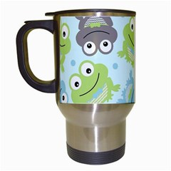 Frog Green Travel Mugs (white) by AnjaniArt