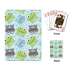 Frog Green Playing Card by AnjaniArt