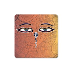 Face Eye Square Magnet by AnjaniArt