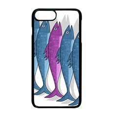 Mackerel Miltary Apple Iphone 7 Plus Seamless Case (black) by Valentinaart