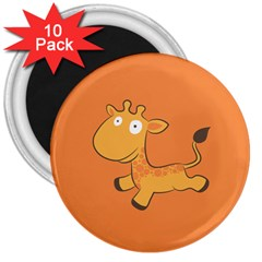 Giraffe Copy 3  Magnets (10 Pack)