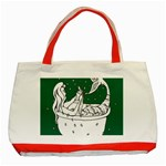 Green Mermaid Classic Tote Bag (Red) Front