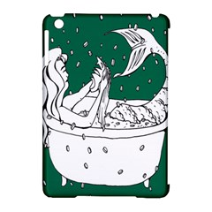 Green Mermaid Apple Ipad Mini Hardshell Case (compatible With Smart Cover) by AnjaniArt