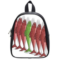 Mackerel Military 2 School Bags (small)  by Valentinaart