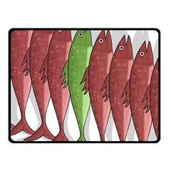 Mackerel Military 2 Fleece Blanket (small)