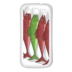 Mackerel Military 2 Samsung Galaxy S3 Back Case (white) by Valentinaart