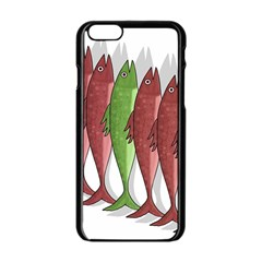 Mackerel Military 2 Apple Iphone 6/6s Black Enamel Case by Valentinaart