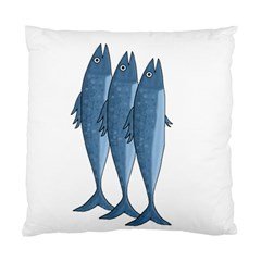Mackerel Standard Cushion Case (one Side) by Valentinaart
