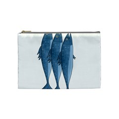 Mackerel Cosmetic Bag (medium)  by Valentinaart