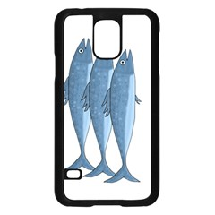 Mackerel Samsung Galaxy S5 Case (black) by Valentinaart
