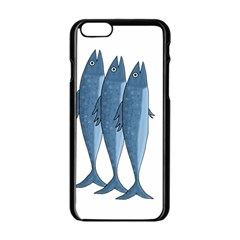 Mackerel Apple Iphone 6/6s Black Enamel Case by Valentinaart