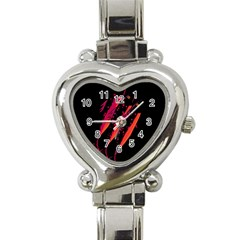 Red Fish Heart Italian Charm Watch by Valentinaart