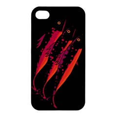 Red Fish Apple Iphone 4/4s Hardshell Case by Valentinaart