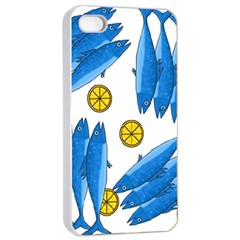Mackerel Meal 2 Apple Iphone 4/4s Seamless Case (white) by Valentinaart