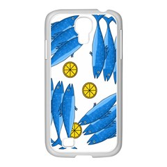 Mackerel Meal 2 Samsung Galaxy S4 I9500/ I9505 Case (white) by Valentinaart