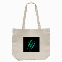 Green Fish Tote Bag (cream) by Valentinaart