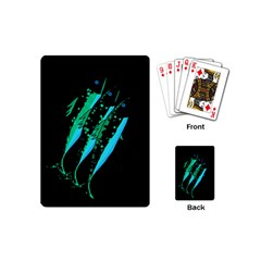 Green Fish Playing Cards (mini)  by Valentinaart