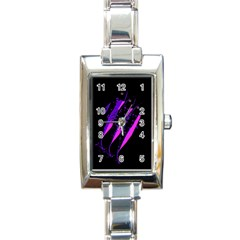 Purple Fish Rectangle Italian Charm Watch by Valentinaart