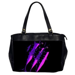 Purple Fish Office Handbags (2 Sides)  by Valentinaart