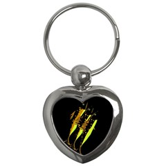 Yellow Fish Key Chains (heart)
