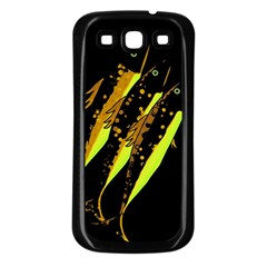 Yellow Fish Samsung Galaxy S3 Back Case (black) by Valentinaart