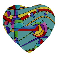 Abstract Machine Ornament (heart)  by Valentinaart