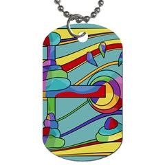 Abstract Machine Dog Tag (two Sides) by Valentinaart