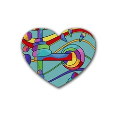 Abstract Machine Heart Coaster (4 Pack)