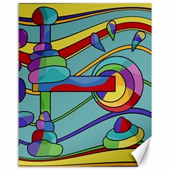 Abstract Machine Canvas 11  X 14   by Valentinaart