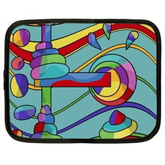 Abstract Machine Netbook Case (large) by Valentinaart